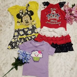 Girls 2T skirt and shirt bundle